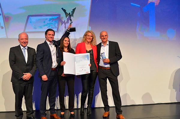 Geschäftsführer Kappacher bei der Preisverleihung zum Unternehmen des Jahres 2017 in Salzburg