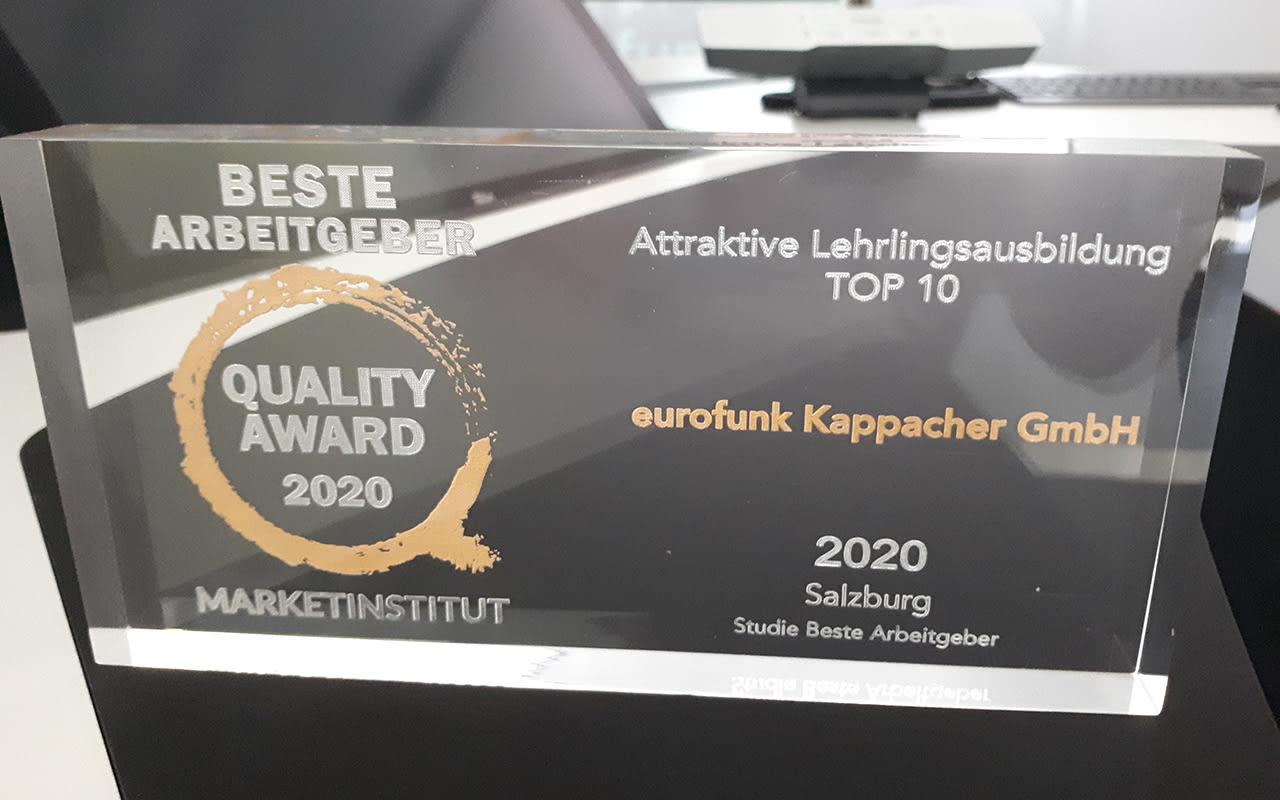 Top Ten Ausbildungsbetrieb in Salzburg