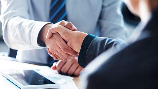 business handschütteln