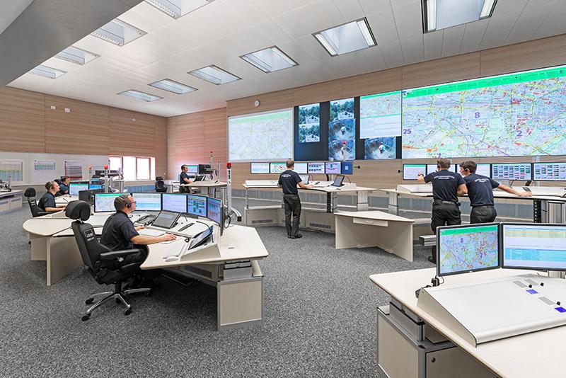Eurofunk Schaltzentrale in der ILS München