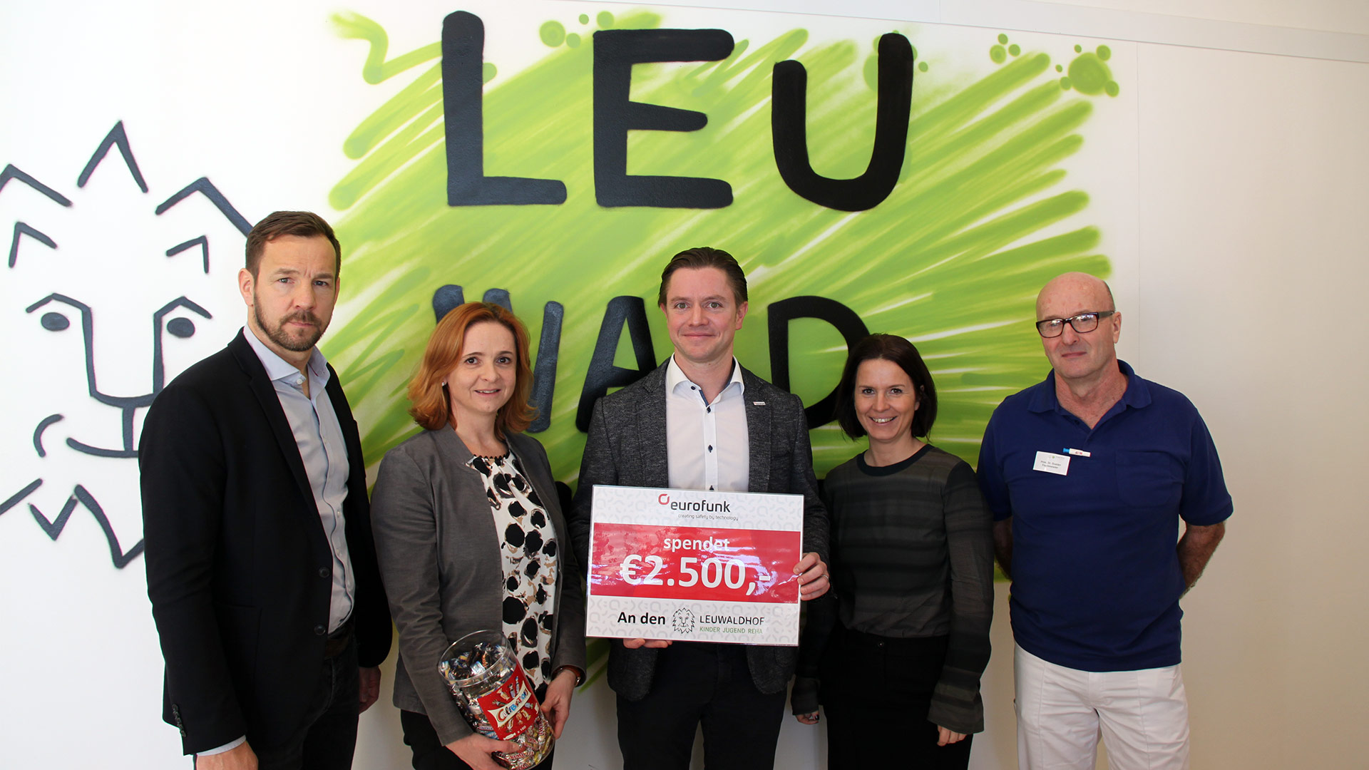 eurofunk donates €2.500,- to the Leuwaldhof Children and Youth Rehabilitation Center