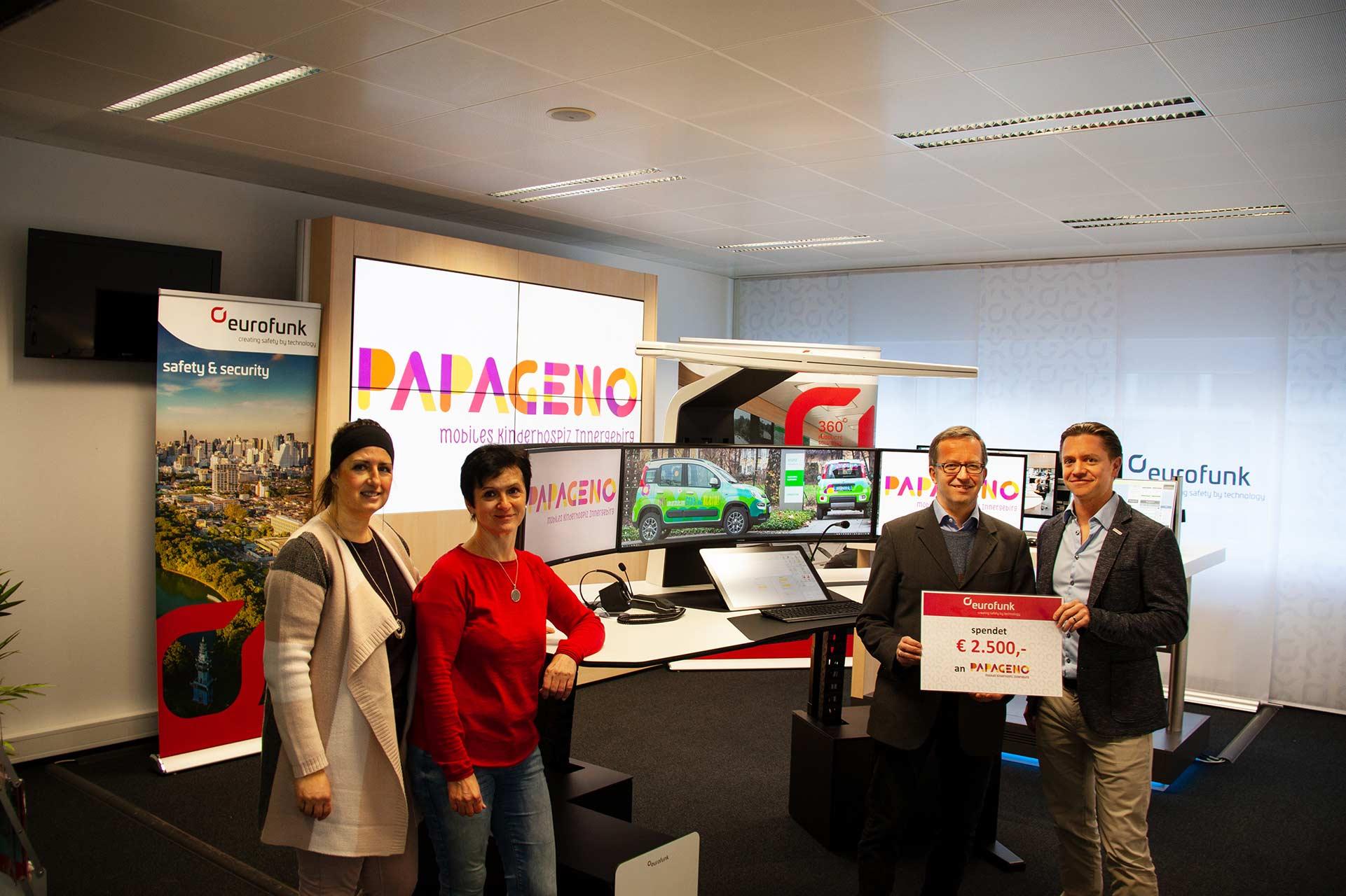 eurofunk spendet € 2.500,- an PAPAGENO Mobiles Kinderhospiz Innergebirg